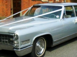1966 Cadillac for wedding hire in Southampton